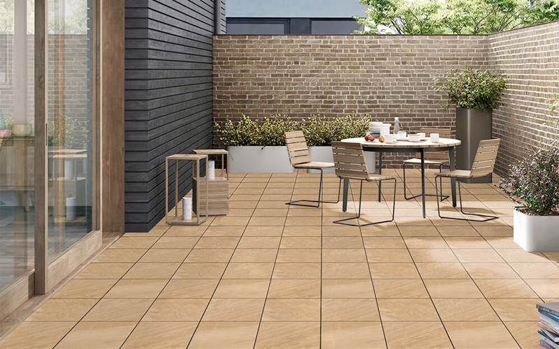 Vitrified tiles give a great and lasting look to its surrounding areas.
